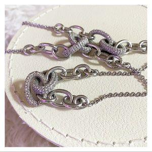 Kate Spade - Silver Pavé Link Necklace